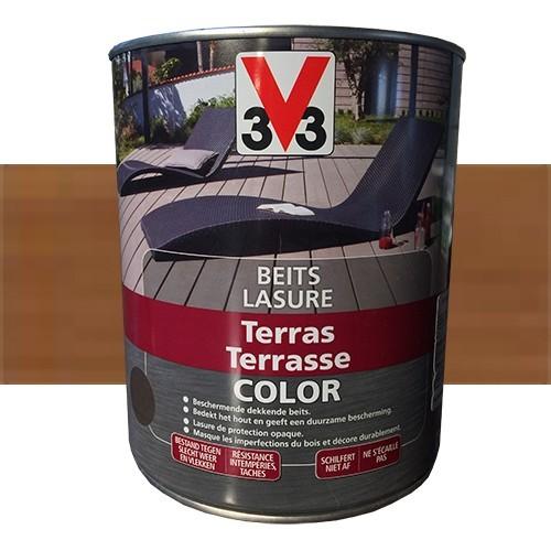 V33 Lasure Terrasse Color Brun clair
