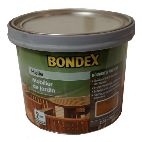 huile mobilier de jardin bondex longue dur e naturel 2 5l. Black Bedroom Furniture Sets. Home Design Ideas