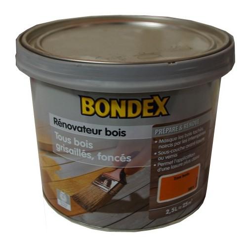 Rénovateur bois BONDEX Ton bois 2,5L pas cher en ligne # Peinture Pas Cher Pour Bois
