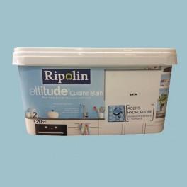 Ripolin Peinture Acrylique Attitude Cuisine Bain Bleu Gris