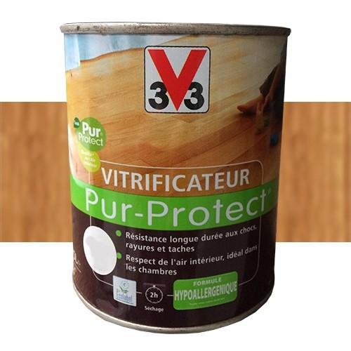 V33 Vitrificateur Pur-Protect Chêne Moyen Ciré