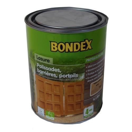 BONDEX Lasure Classique, bois extérieurs, palissades, barrières… Noisette Satin