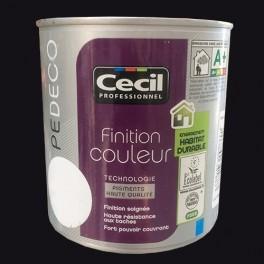 CECIL PE DECO Peinture Finition Couleur Satin Noir
