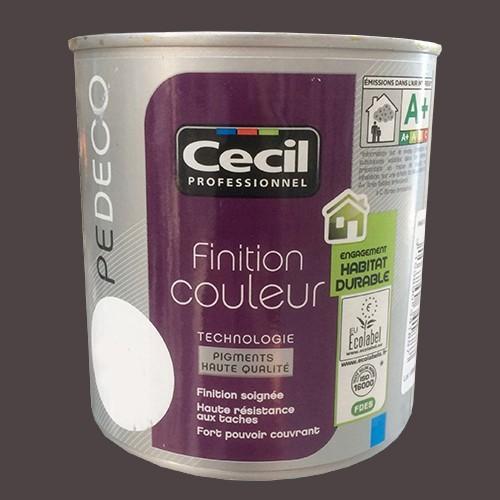 CECIL PE DECO Peinture Finition Couleur Satin Chocolat