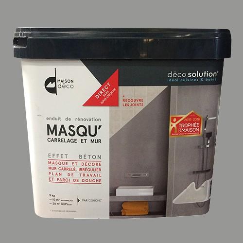 maison d co enduit de r novation masqu 39 carrelage et mur 9kgs gris urbain pas cher en ligne. Black Bedroom Furniture Sets. Home Design Ideas