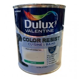 Dulux Valentine Peinture Acrylique Color Resist Cuisine Bain Blanc