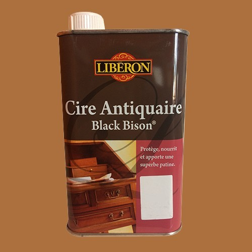 Lib ron cire antiquaire black bison 0 5l ch taignier for Cire antiquaire black bison liquide