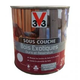 V33 Sous-couche Bois Exotiques Durs et Résineux Blanc