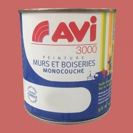 AVI 3000 Peinture Acrylique Murs & Boiseries Rouge pivoine