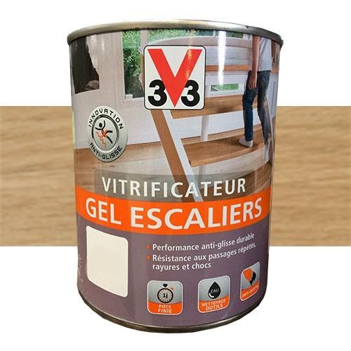 v33 vitrificateur gel escalier incolore brillant pas cher en ligne. Black Bedroom Furniture Sets. Home Design Ideas