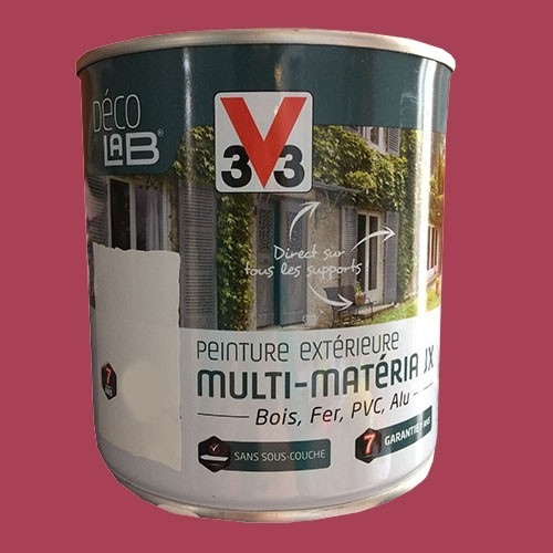 v33 peinture multi mat riaux hibiscus pas cher en ligne. Black Bedroom Furniture Sets. Home Design Ideas