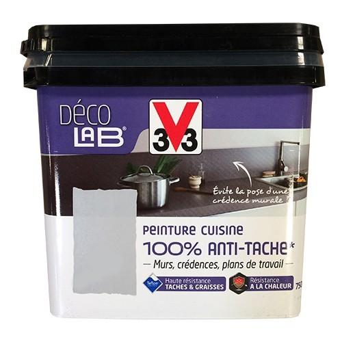 V33 Deco Lab Peinture Cuisine 100 Anti Tache Blanc Pas Cher En Ligne