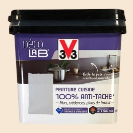 ... V33 Déco LAB Peinture Cuisine 100% Anti Tâche Ivoire