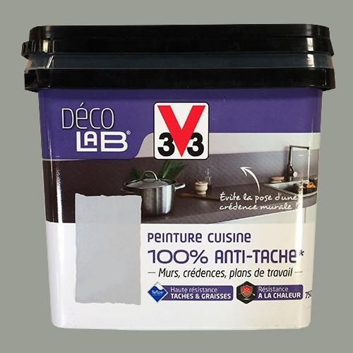 V33 Déco LAB Peinture Cuisine 100% Anti-Tâche Inox