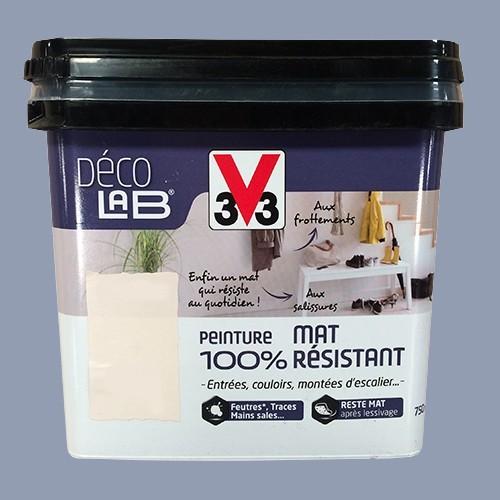 V33 déco lab peinture mat 100 résistant bleu atlantique pas cher en ligne