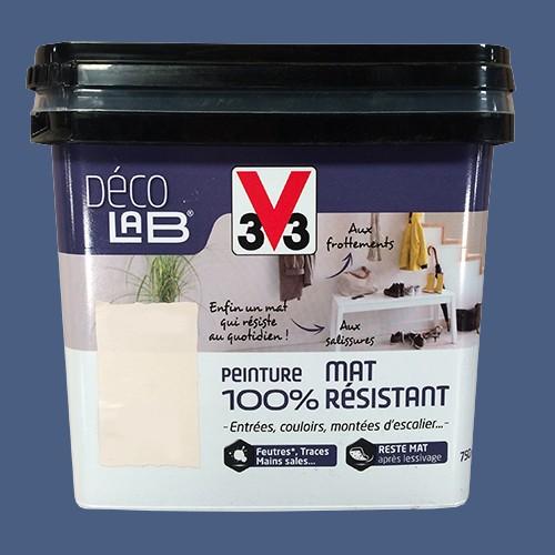 ... La Gamme Déco LAB Peinture Mat 100% Résistant De La Marque V33 Est Une  Peinture Du0027aspect Mat Ultra Lessivable Idéale Pour Décorer Les Pièces  Sollicitées ...