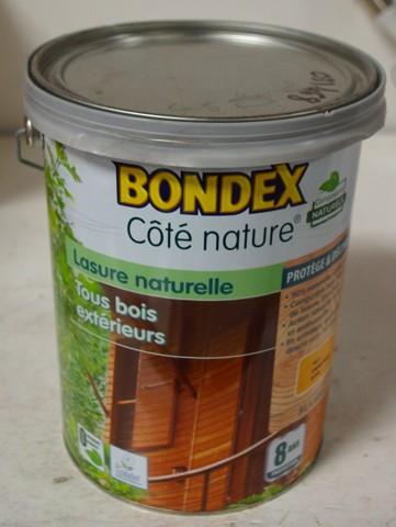 lasure bondex c t nature 8 ans tous bois ext rieur 5l ch ne dor satin pas cher en ligne. Black Bedroom Furniture Sets. Home Design Ideas