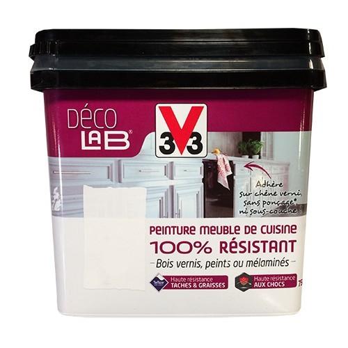 V33 d co lab peinture meuble de cuisine 100 r sistant blanc pas cher en ligne - Peinture meuble pas cher ...
