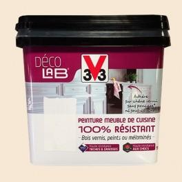 V33 Déco LAB Peinture Meuble de cuisine 100% Résistant Ivoire