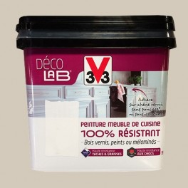 V33 Déco LAB Peinture Meuble de cuisine 100% Résistant Beige nature