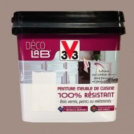 V33 Déco LAB Peinture Meuble de cuisine 100% Résistant Humus