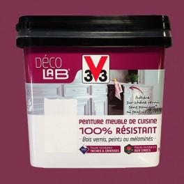 V33 Déco LAB Peinture Meuble de cuisine 100% Résistant Aubergine