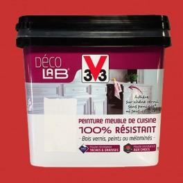 V33 Déco Lab Peinture Meuble De Cuisine 100 Résistant Rouge Piment