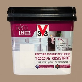 V33 Déco LAB Peinture Meuble de cuisine 100% Résistant Cappuccino