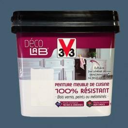 V33 Déco LAB Peinture Meuble de cuisine 100% Résistant Bleu carbone
