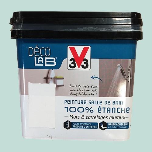 V33 Déco LAB Peinture Salle de bain 100% Etanche Bleu embrun
