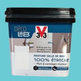 V33 Déco LAB Peinture Salle de bain 100% Etanche Bleu d'été