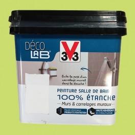 V33 Déco LAB Peinture Salle de bain 100% Etanche Feuille de bambou
