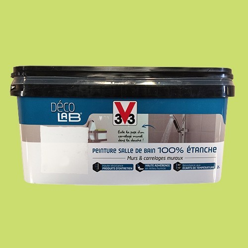 V33 d co lab peinture salle de bain 100 etanche feuille - Peinture salle de bain etanche ...