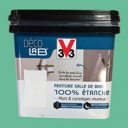 V33 Déco LAB Peinture Salle de bain 100% Etanche Menthe verte