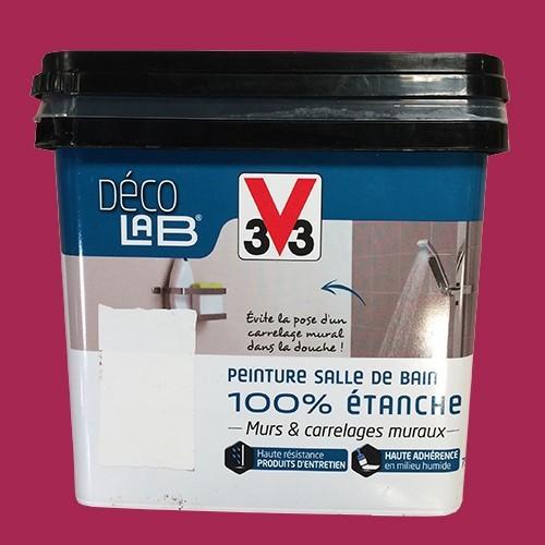 V33 Déco LAB Peinture Salle de bain 100% Etanche Cassis