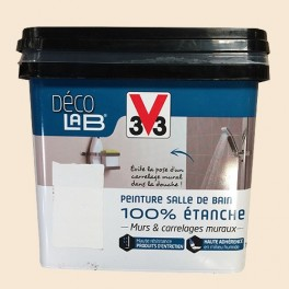 V33 Déco LAB Peinture Salle de bain 100% Etanche Ivoire