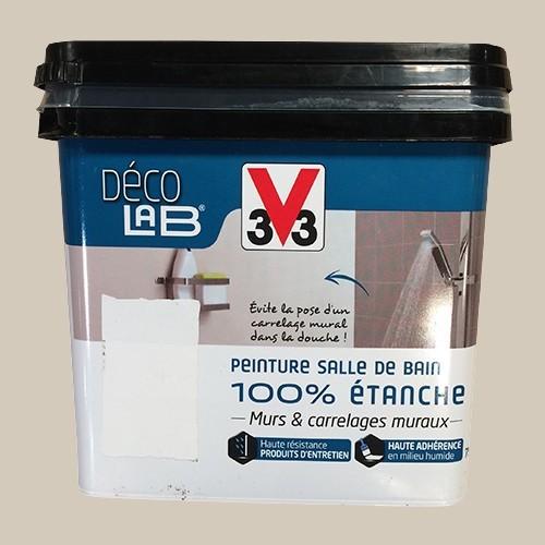 V33 Déco LAB Peinture Salle de bain 100% Etanche Beige nature
