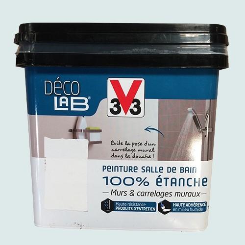 V33 Déco LAB Peinture Salle de bain 100% Etanche Galet