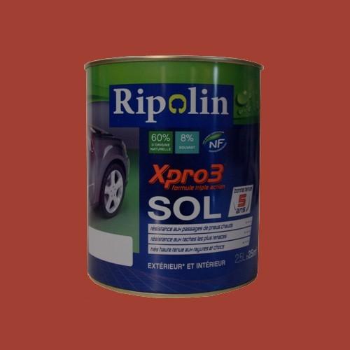 Peinture RIPOLIN Xpro3 Sol Tomette Satin