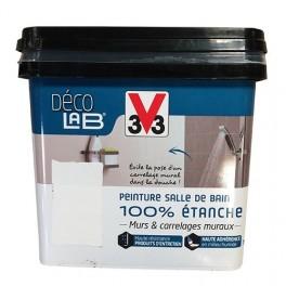 V33 Déco LAB Peinture Salle de bain 100% Etanche Blanc pas cher en ligne