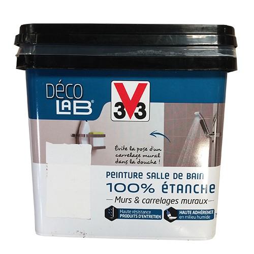 V33 Déco LAB Peinture Salle de bain 100% Etanche Blanc