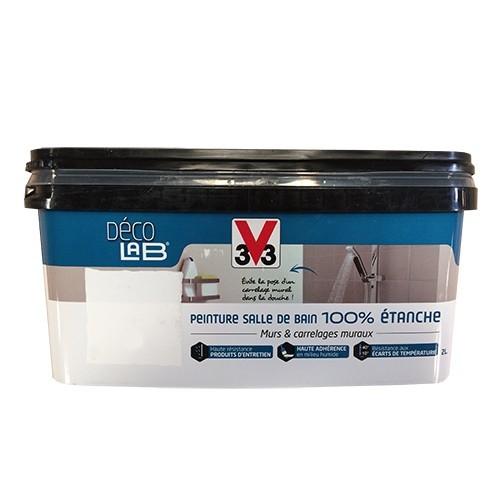 v33 d co lab peinture salle de bain 100 etanche blanc pas cher en ligne. Black Bedroom Furniture Sets. Home Design Ideas