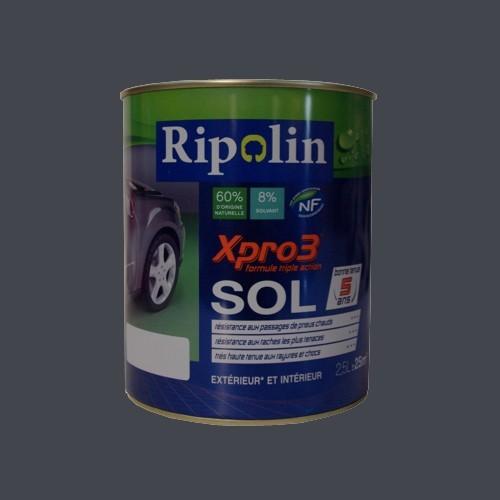 achat peinture ripolin xpro3 sol gris b ton satin 2 5l. Black Bedroom Furniture Sets. Home Design Ideas