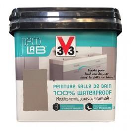 V33 Déco LAB Peinture Salle de bain 100% Waterproof Blanc