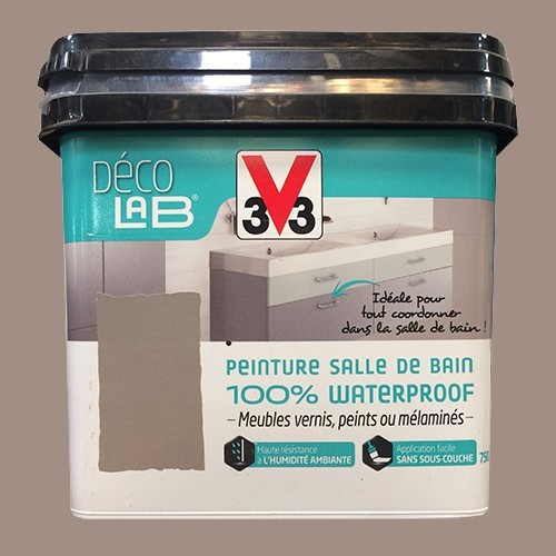 V33 Déco LAB Peinture Salle de bain 100% Waterproof Humus