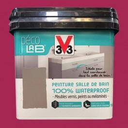 V33 Déco LAB Peinture Salle de bain 100% Waterproof Cassis