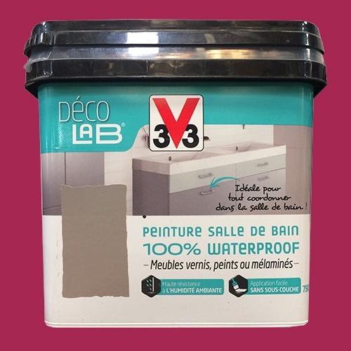 v33 d co lab peinture salle de bain 100 waterproof cassis pas cher en ligne. Black Bedroom Furniture Sets. Home Design Ideas