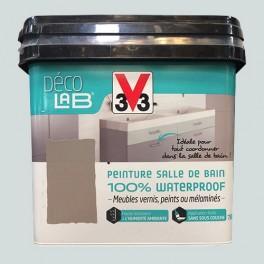 V33 Déco LAB Peinture Salle de bain 100% Waterproof Manganèse