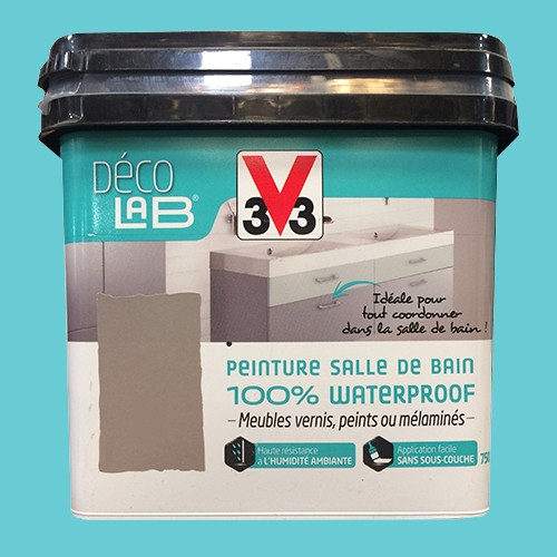 V33 d co lab peinture salle de bain 100 waterproof bleu d 39 t pas cher en ligne - Deco salle de bain pas cher ...