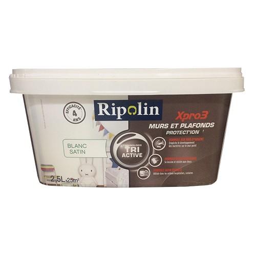 ripolin xpro3 murs plafonds protect 39 ion blanc satin pas cher en ligne. Black Bedroom Furniture Sets. Home Design Ideas